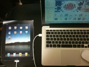 iPadを同期中